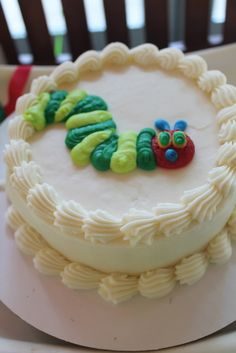 """Smash cake idea  Photo 4 of 43: The Very Hungry Caterpillar / Birthday """"Ella's first birthday"""" 