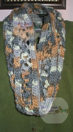 Free crochet pattern: Cluster Shell Cowl by Home made hats by Cheryl