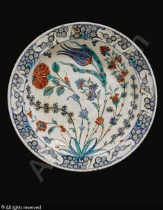 IZNIK CERAMIC, 16 > (Turkey)  Title : DISH  Date : ca 1575  DISH sold by Sotheby's, London, on Tuesday, April 24, 2012
