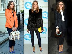 """MANOLO BLAHNIK PUMPS  Olivia Palermo finds her cobalt, jewel-toed Manolo Blahnik """"Hangisi"""" pumps surprisingly versatile, pairing them like a pro with contrasting colors and looks ranging from casual to formal."""
