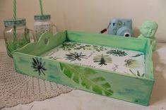 Tea Tray, Painting Techniques, Eq Arte, Ideas Para, Whimsical, Cactus, Decorative Boxes, Trays, Wood