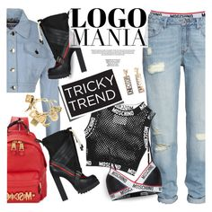"""LOGOMANIA (Moschino)"" by anita-n ❤ liked on Polyvore featuring мода, H&M, Moschino и Dsquared2"