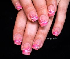 pink french nails