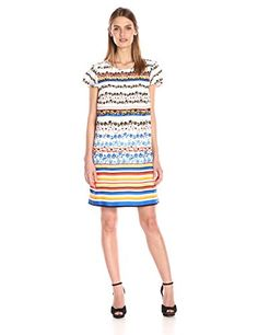 Kensie Women's Floral Stripes Dress - http://darrenblogs.com/2016/04/kensie-womens-floral-stripes-dress/