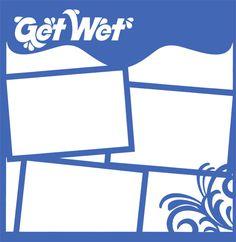 Get Wet 12 x 12 Overlay Laser Die Cut