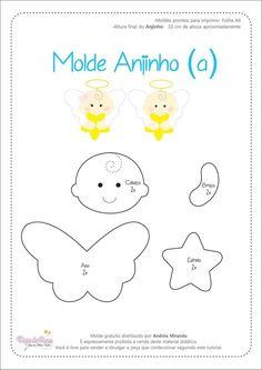 Moldes para hacer angelitos de fieltro Ideas de Manualidades