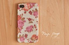Apple iphone case for iphone iphone 3Gs iphone 4 iphone 4s iPhone 5: Vintage Roses.