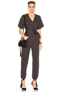 ccb5e7feb38f Shop for Ulla Johnson Reiko Jumpsuit in Charcoal at FWRD. Emma Trịnh · JUMPSUITS  AND PLAYSUITS