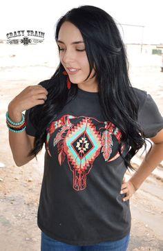 New Crazy Train Clothing Omaha Outlaw Gray Bull Head Shirt Small to 3XL #CrazyTrain #Tshirt #Any
