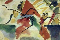 """Wassily Kandinsky (1866-1944), Les Impressions V (Parc), 1911 Dès 1909, Kandinsky peint des séries dont les titres sont des références musicales. """"Impressions directes de la réalité extérieure""""."""