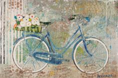 """Blue Bike White Stripes"" Available at Anne Irwin Fine Art 404-467-1200"