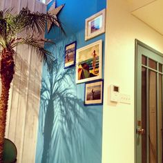 california style 玄関ドア横のインテリア実例