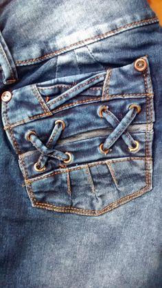 bolsillo de #pantalon jeans para mujer #modazeus
