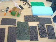 Wendy's texture plates. September 2012  #Polymer #Clay #Tutorials