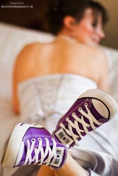 Forget the sparkly wedding shoes girls - Converse Allstars it is!!! #Converse #ChuckTaylors #Chucks #AllStars #Shoedipity.com - only in green :)