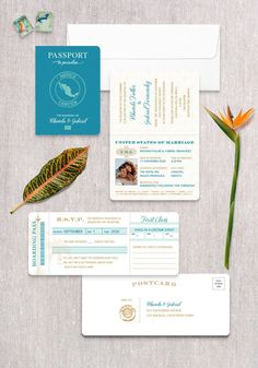 Invite guests to fly away with you on a once in a lifetime adventure! This passport invitation is sure to get your guest excited about your destination wedding. Destination Wedding Save The Dates, Destination Wedding Inspiration, Passport Wedding Invitations, Wedding Stationery, Invitation Wording, Invite, Christmas Return Address Labels, Postcard Template, Card Templates