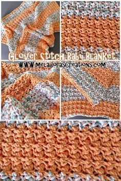 Glover Stitch Baby Blanket – Free Crochet Pattern & Video tutorials By Meladora's Creations by rosanna Crochet Afghans, Baby Blanket Crochet, Crochet Blankets, Baby Afghans, Crochet Crafts, Crochet Yarn, Crochet Stitches, Crotchet, Crochet Ideas