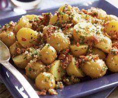 Baby Yukon Potato Salad with Shallots, Chives, Bacon & Lemon Vinaigrette Recipe