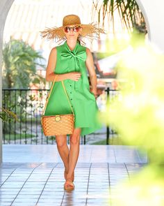 Image Via: Kelly Golightly in the Emerald Bow Dress #Anthropologie