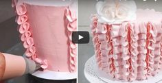 Buttercream Cake Tutorial. Buttercream Cake Decorating Tip. Cake decorating for beginners.Buttercrea...
