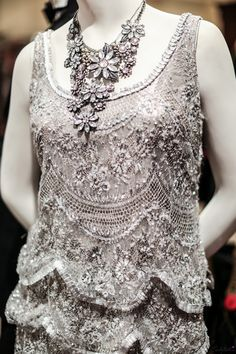 One of the dresses from the Great Gatsby by costume designer Catherine Martin. Featured at the Brooks Brothers flagship in NYC