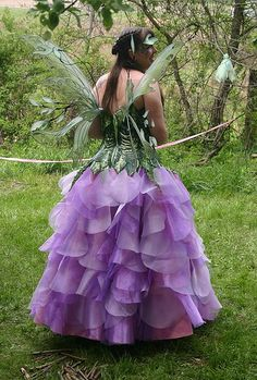 Queen of the May, Posie Fairy by On Gossamer Wings, via Flickr. Fairy costume. Fae costume.