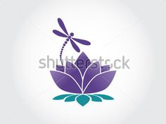 Lotus flower abstract vector logo design template with dragonfly . Dragonfly Silhouette, Dragonfly Logo, Dragonfly Wall Art, Dragonfly Jewelry, Vector Logo Design, Logo Design Template, Graphic Design, Firefly Tattoo, Silhouette Images