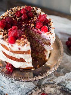 Runebergin täytekakku (V) – Viimeistä murua myöten No Bake Cake, Cheesecake, Food And Drink, Sugar, Baking, Sweet, Desserts, Recipes, Inspiration