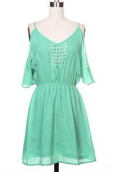 Square Cutting Detail Dress
