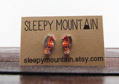 Crayon Ponyfish Earrings  Wes Anderson The Life by SleepyMountain