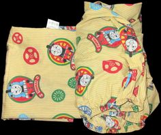 Thomas The Train Toddler Crib Bed Sheet Set Flat Fitted #na