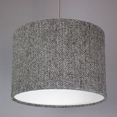grey herringbone harris tweed lampshade by quirk | notonthehighstreet.com