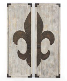 Look at this Vintage White Fleur-de-Lis Wall Plaques - Set of Two on #zulily today!