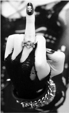 #Skull nails and ring