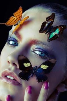 Illuminated Insect Editorials - The Ephemeral Clara Copley Beauty Story is Inspired by Butterflies (GALLERY)