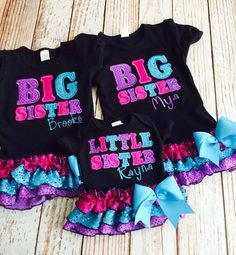 Hey, I found this really awesome Etsy listing at https://www.etsy.com/listing/223585528/big-sister-shirt-big-sister-dress-little