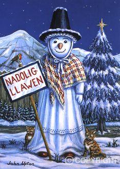 English Christmas, Christmas Art, Funny Christmas, Vintage Christmas, Xmas Cards, Greeting Cards, Welsh Language, Welsh Gifts, Welsh English