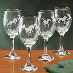 Freedom Frolic Wine Glass 14oz Set of 4 - Western Wear, Equestrian Inspired Clothing, Jewelry, Home Décor, Gifts