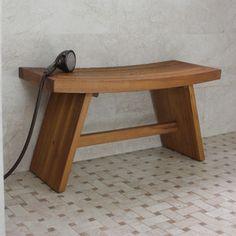 large teak shower bench $239.99