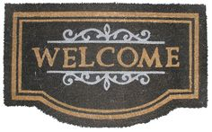 J and M Home Fashions Nottingham Welcome Vinyl Back Coco Doormat, 18' x 30' * To view further for this item, visit the image link. (This is an affiliate link) #Doormats