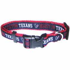 """-""""Houston Texans NFL Dog Collars"""" - BD Luxe Dogs & Supplies"""