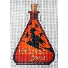 Witches Brew Poison Bottle Needlepoint Canvas by Kirk & Bradley