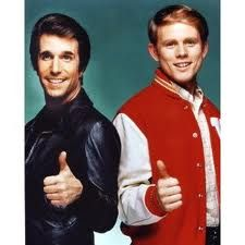 """Fonzie and Richie from """"Happy Days"""""""