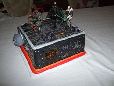 A Star Wars cake that I did for my boyfriend's birthday. It was yummy! Wars# is one of the very best films ever, so why not possess a Boyfriend Birthday, My Boyfriend, Star Wars Cake, Cake Ideas, Birthday Ideas, Bedding, Films, Stars, Desserts