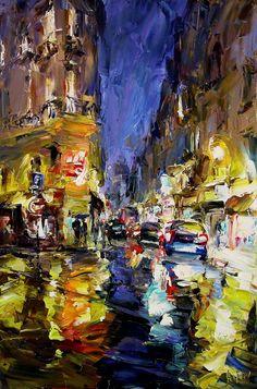 "Lyudmila Agrich at Mirada Fine Art, Colors of Night, Original Oil on Canvas, 36"" x 24"""