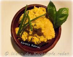 Kürbis-Rührei für einen sanften Herbstanfang – Wenn die Kochtöpfe reden  #rezept #franzoesisch #kuerbis