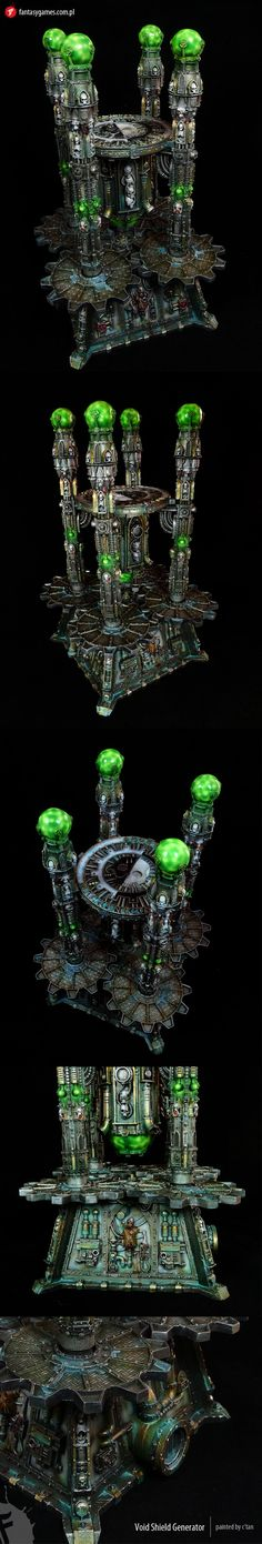 Warhammer 40k void sheild generator - i like the green and the detailing. It appears less monochromatic than the suggested painting
