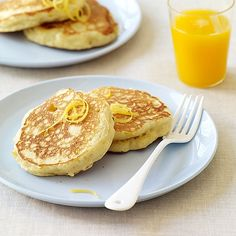 Fluffy with a hint of citrus, these Lemon-Ricotta Pancakes are a member favorite! Enjoy them plain or topped with berries. #recipe #WWLoves