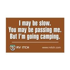 RV Itch I'm Going Camping Decal for