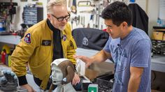 Prop maker Ryan Nagata is obsessed with NASA spacesuits, and has made the best replicas Adam has seen. While at his workshop, Adam and Ryan geek out over the. Astronaut Tattoo, Astronaut Costume, Prop Maker, Savage, Nasa, Sci Fi, Meet, Youtube, Amazing